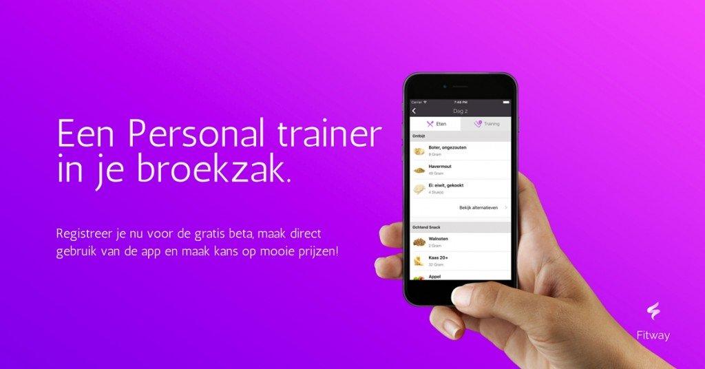 Een Personal trainer in je broekzak met de Fitway app