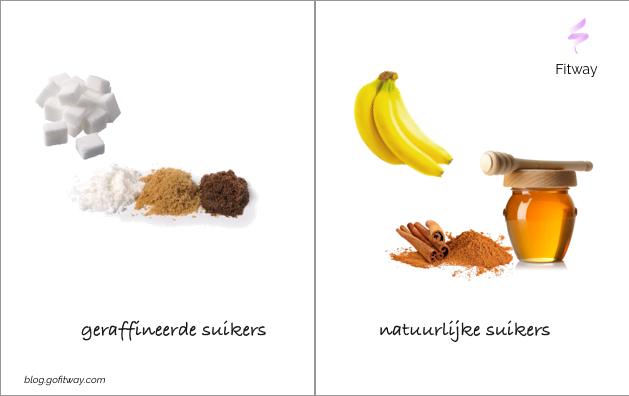 Geraffineerde suikers en natuurlijke suikers